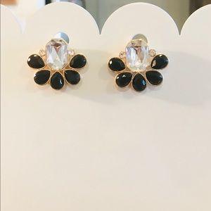 Gorgeous Black & Crystal Fashion Earrings